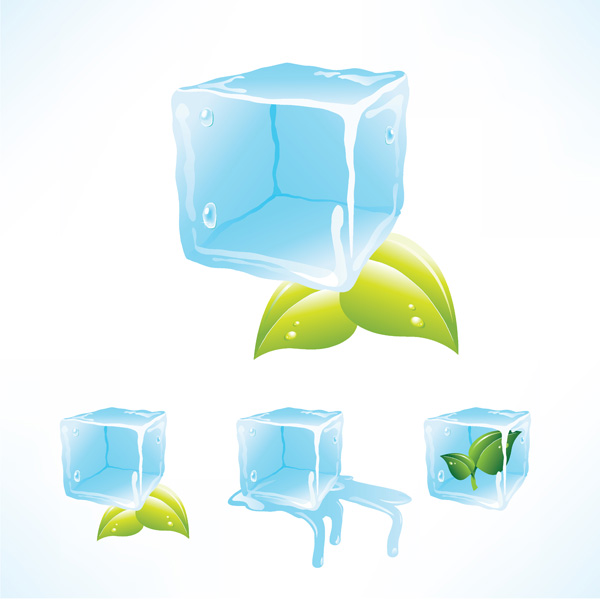 free vector Ice cube vector