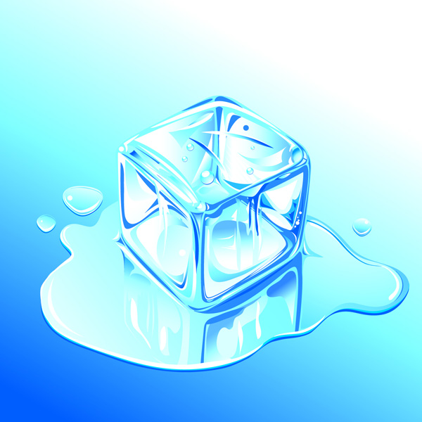 free vector Ice realistic vector