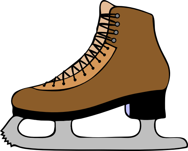 free vector Ice Skate Shoe clip art