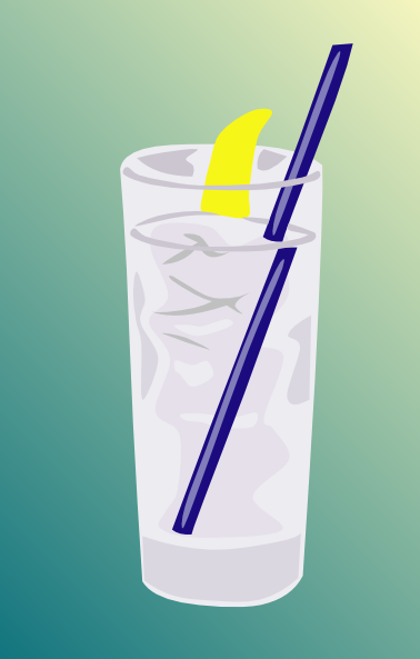 free vector Ice Water Glass clip art