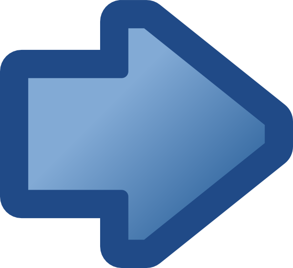 free vector Icon Arrow Right Blue clip art