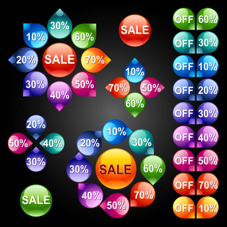 free vector Icon button 01 vector