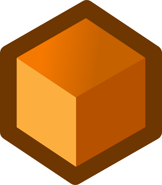 free vector Icon Cube Orange clip art