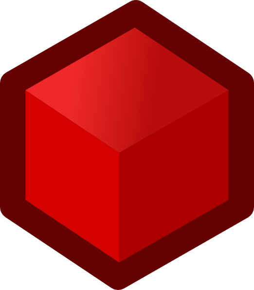 Icon Cube Red Clip Art Free Vector 4Vector