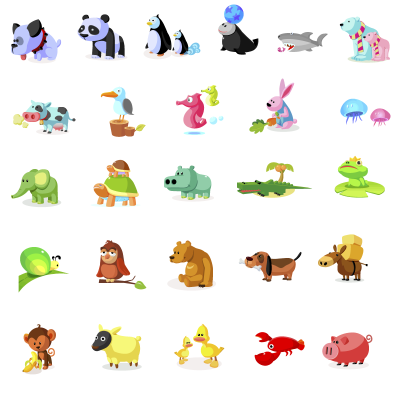 free vector Icon daquan animal articles vector