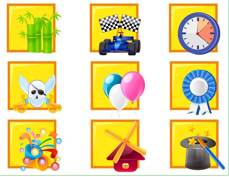 free vector Icon daquan cartoon clip art articles