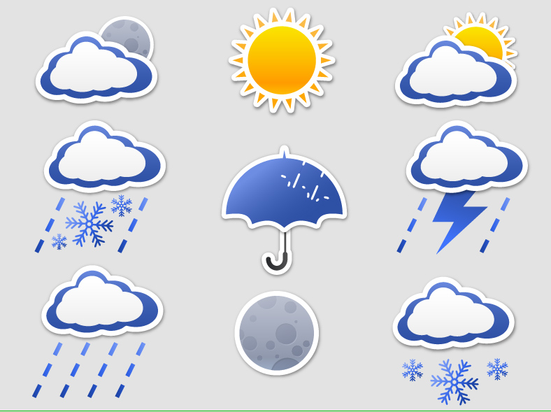 free vector Icon daquan weather articles vector