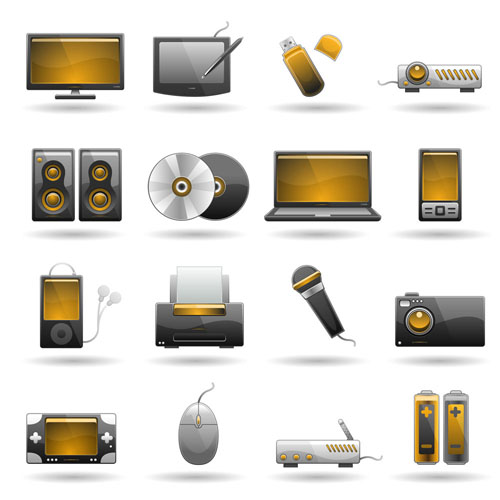 free vector Icon for technology products 01 vector