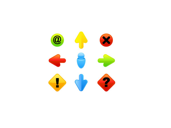 free vector Icon go button articles vector