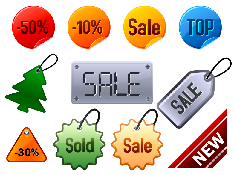 free vector Icon go shopping articles vector