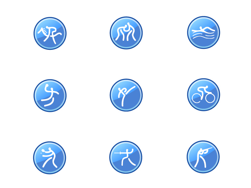 free vector Icon go sports articles vector