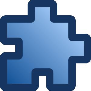 free vector Icon Puzzle Blue clip art