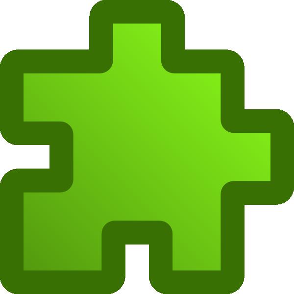 free vector Icon Puzzle Green clip art