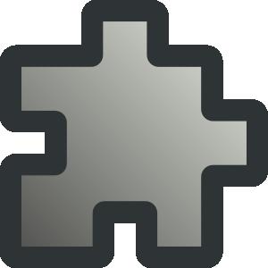 free vector Icon Puzzle Grey clip art