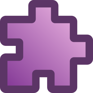 free vector Icon Puzzle Purple clip art