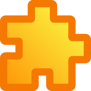free vector Icon Puzzle Yellow clip art