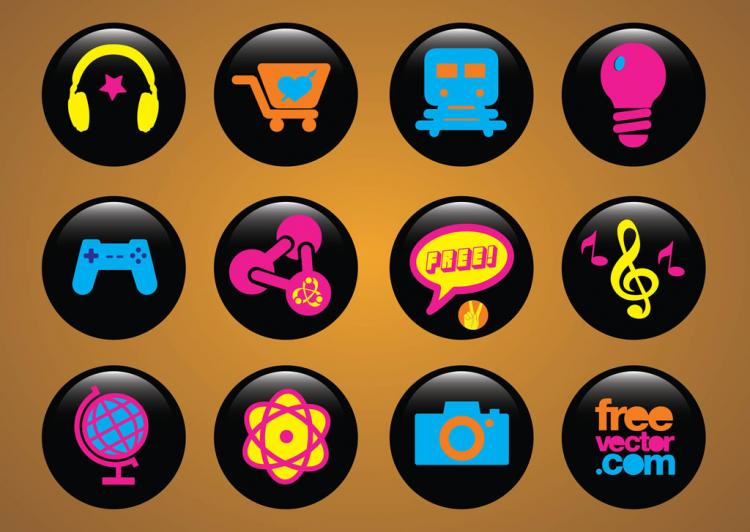 free vector Icons Buttons