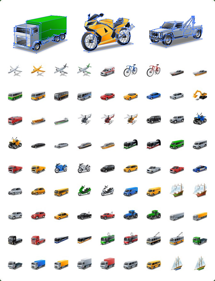 Transport Icons Vector Free Download Icons-land Transport Vector