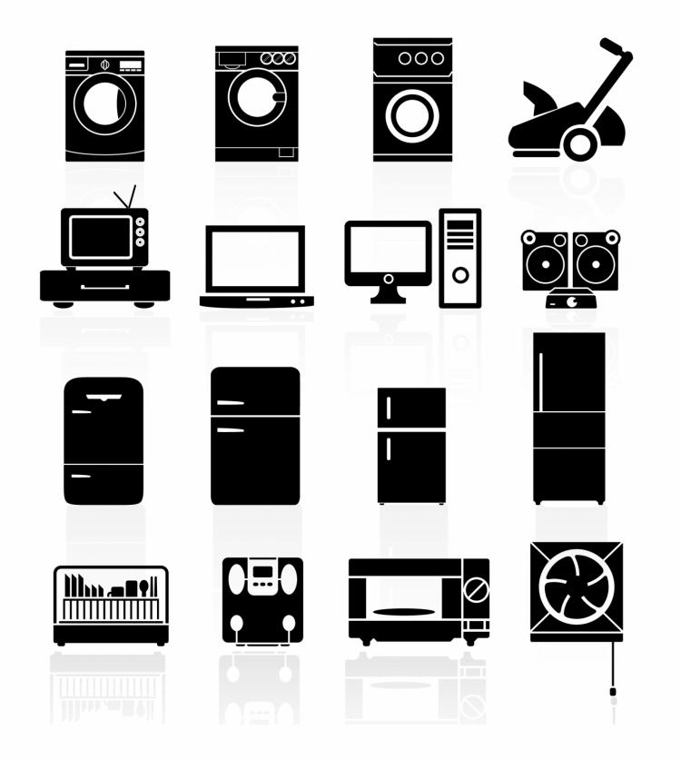 Icons Set Home Devices Free Vector 4vector
