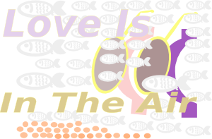 free vector Iglooo E Card Love Is In The Air Red Sea Skin Diving Aug clip art