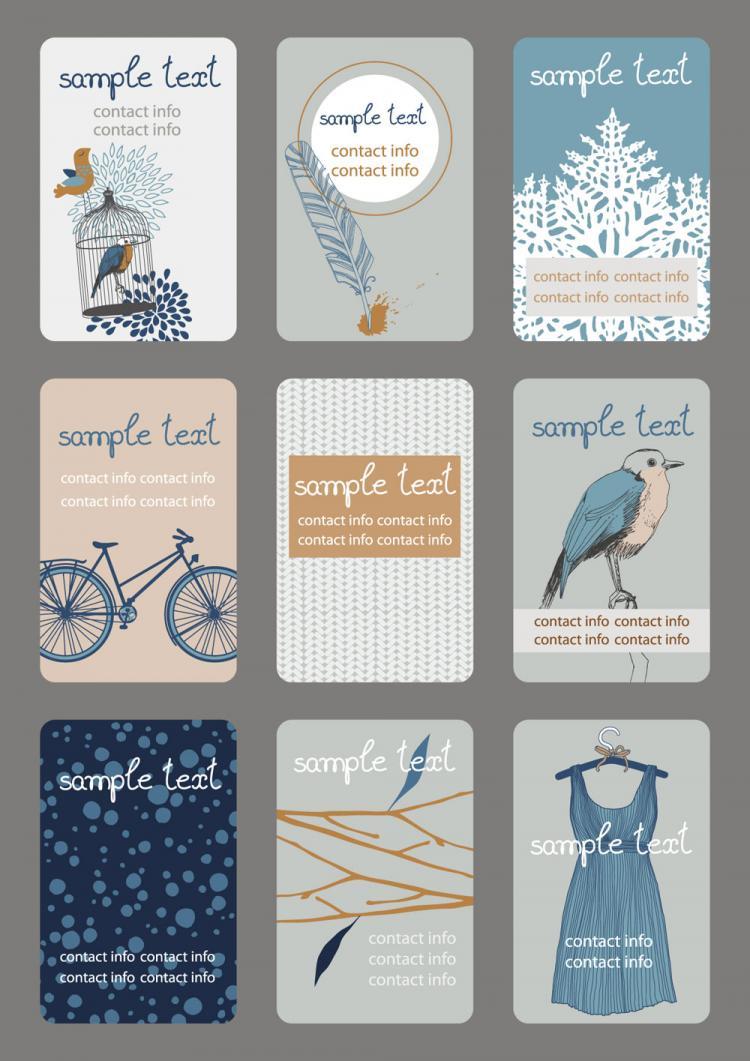 free vector Illustration card 03 vector
