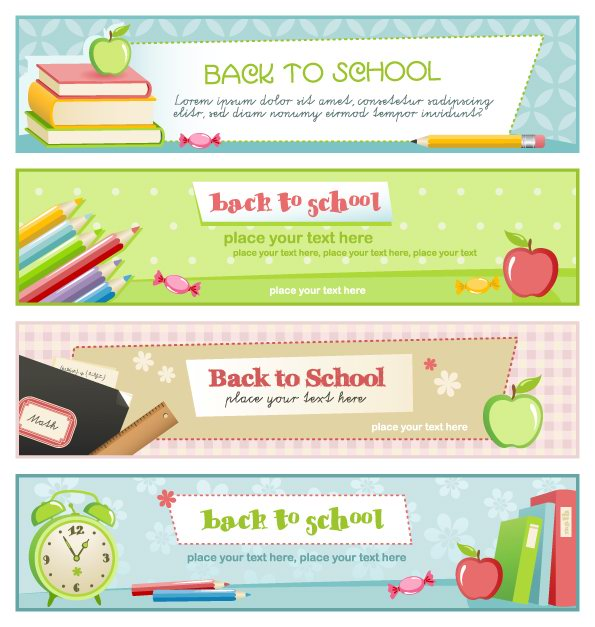 free vector Illustration style of education theme banner design template vector 4