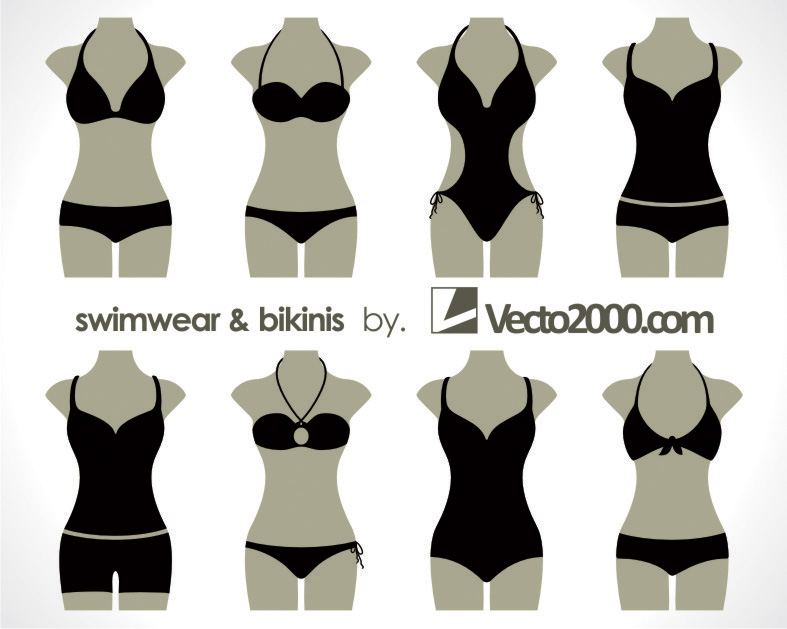 free vector Illustration vector of swimwear and bikinis