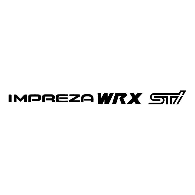 free vector Impreza wrx sti