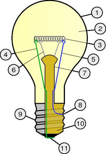 free vector Incandescent Light Bulb clip art 116122