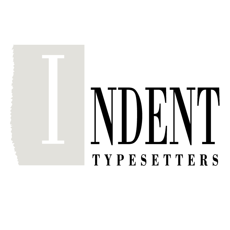 free vector Indent typesetters
