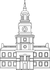 free vector Independence Hall clip art