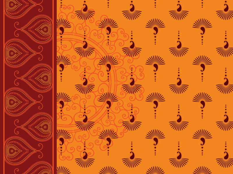 India ham pattern vector background Free Vector / 4Vector