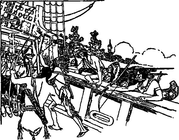 free vector Indian Raid clip art