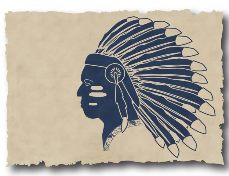 free vector Indians silhouette vector