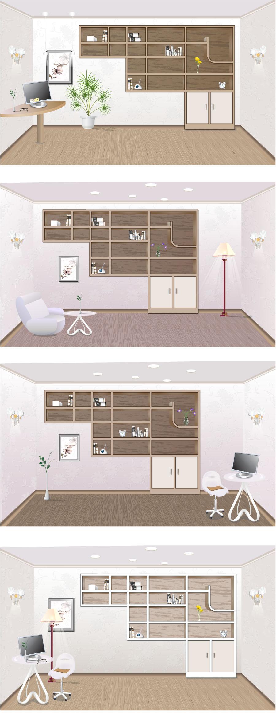 free vector Indoor home furnishings vector 2