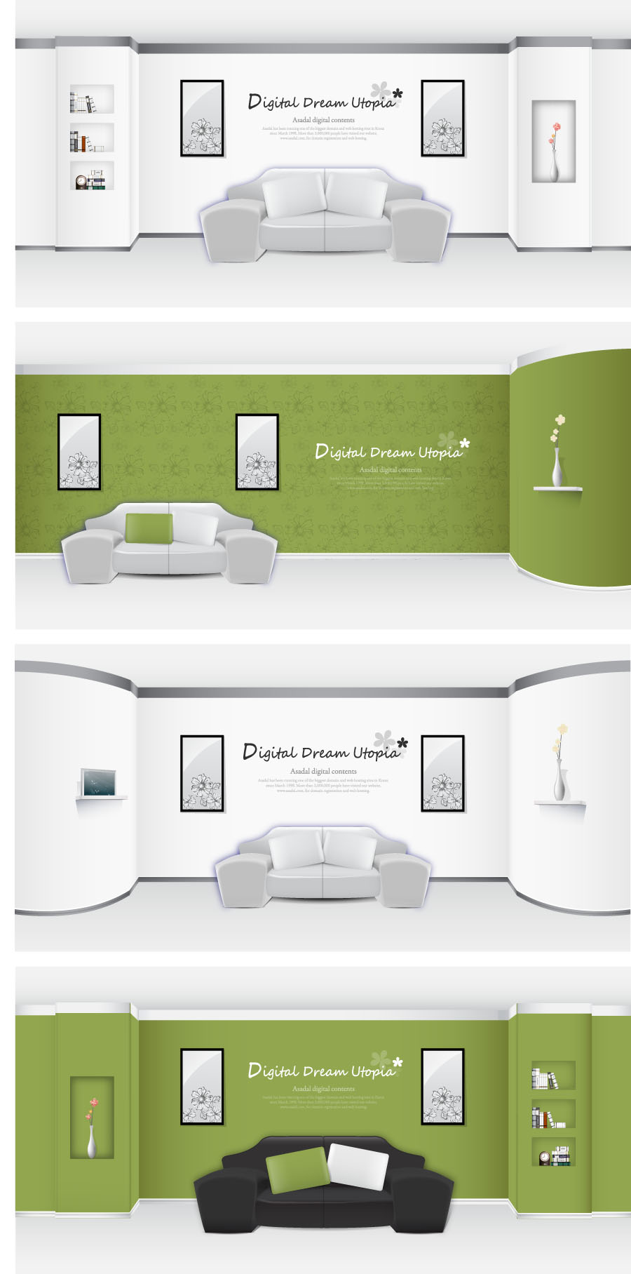 free vector Indoor home furnishings vector