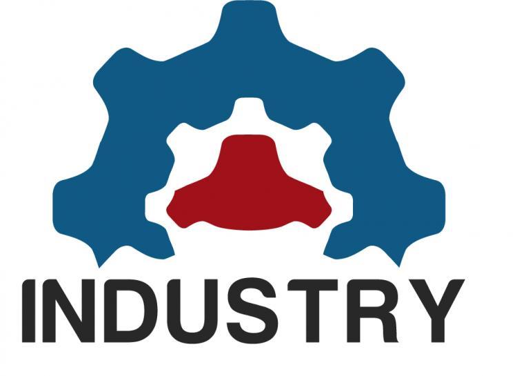 Industrial logo Free Vector / 4Vector