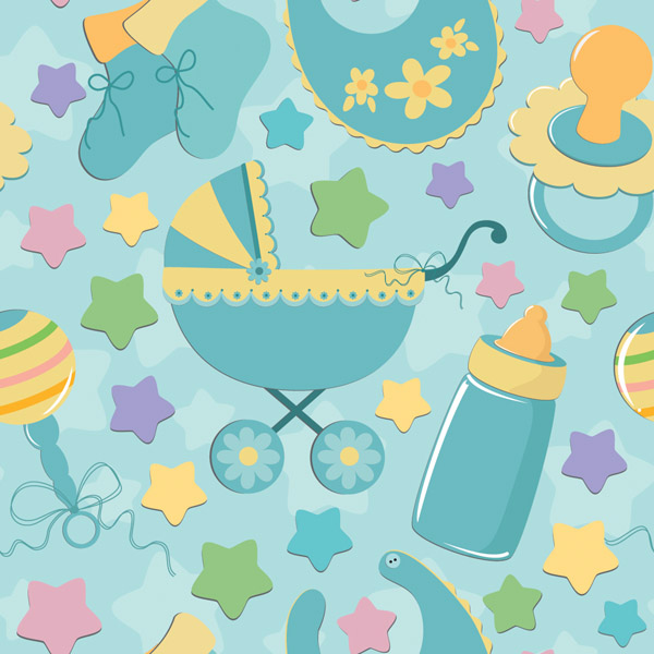 free vector Infant baby cloth background color vector