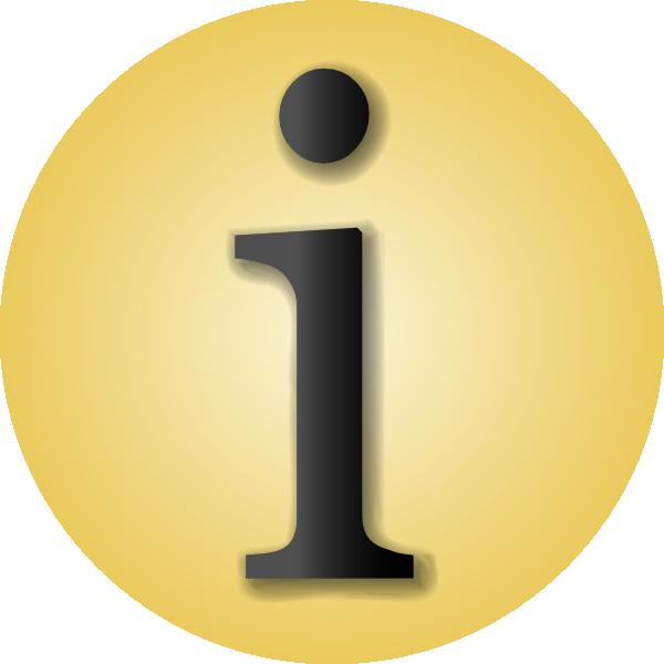 Info Icon clip art Free Vector / 4Vector