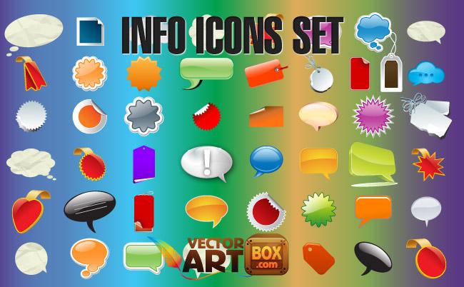 free vector Info Icons Set
