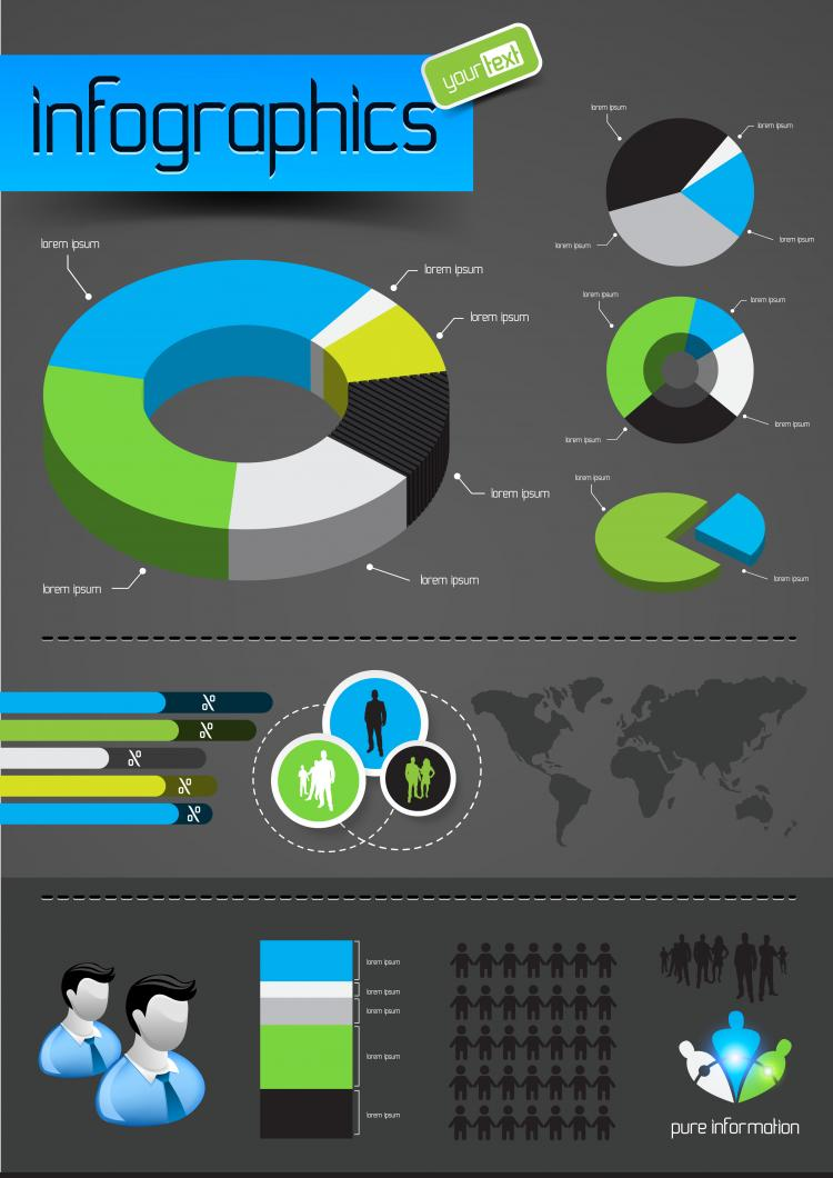 free vector Information graphics 01 vector