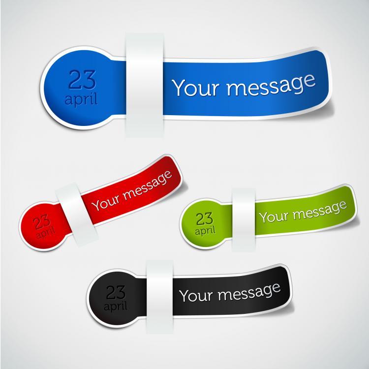 free vector Information stickers 03 vector
