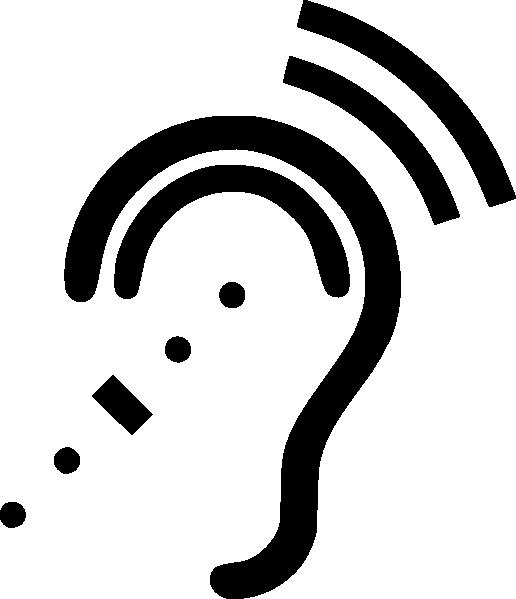 free vector Infra-red Here Symbol (black On Transparent) clip art