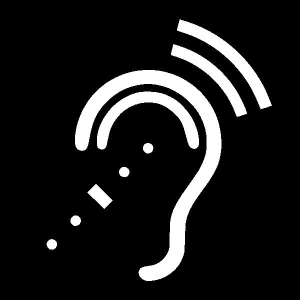 free vector Infra-red Symbol White On Black clip art