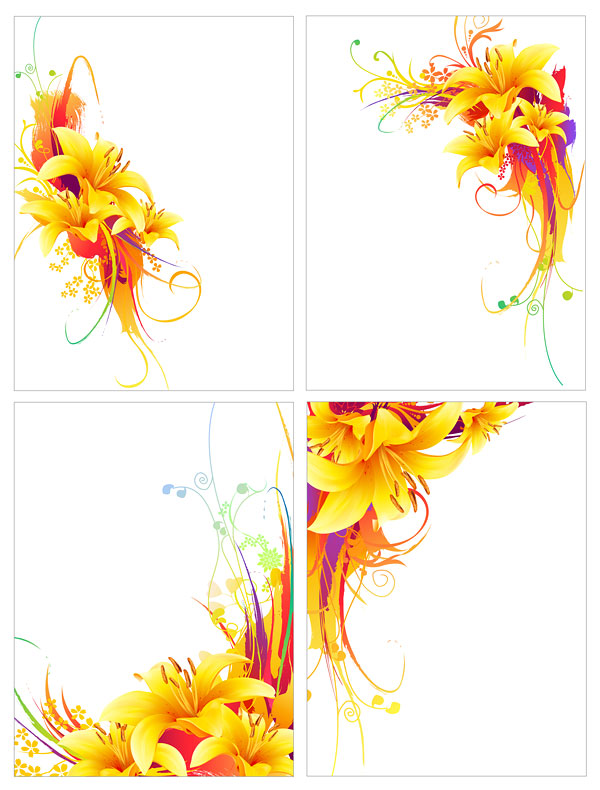 free vector Ink and gold trend pattern vector