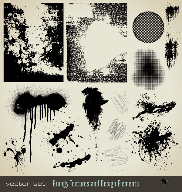 free vector Ink dots texture vector
