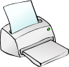 free vector Inkjet Printer clip art