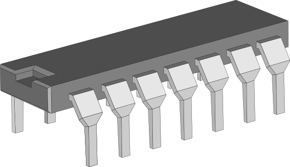 free vector Integrated Circuit Chip clip art