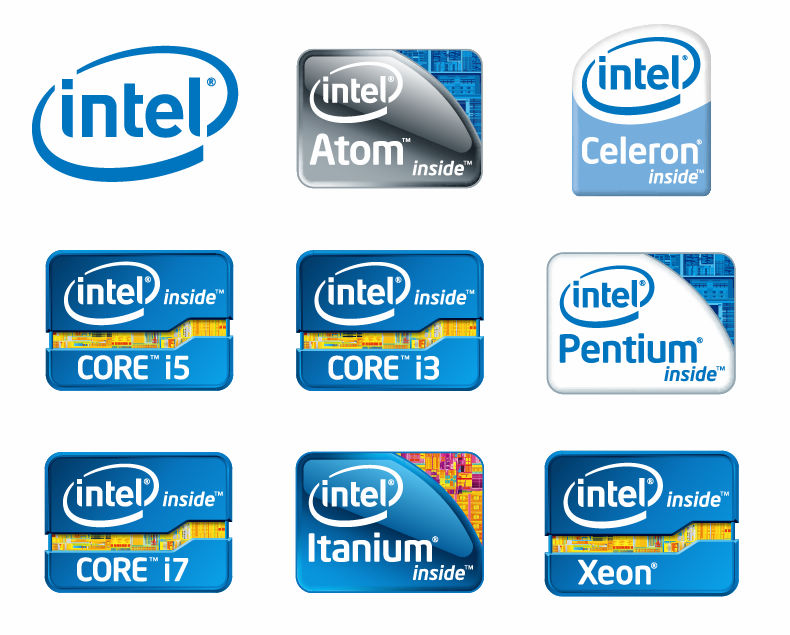 free vector Intel Chip Logos Vector