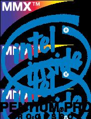 free vector Intel PentiunPro MMX logo